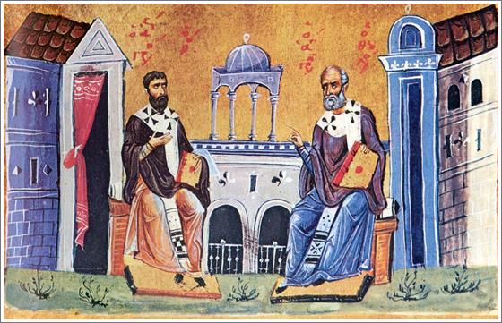 Пријателството на св. Григориј Богослов и св. Василиј Велики